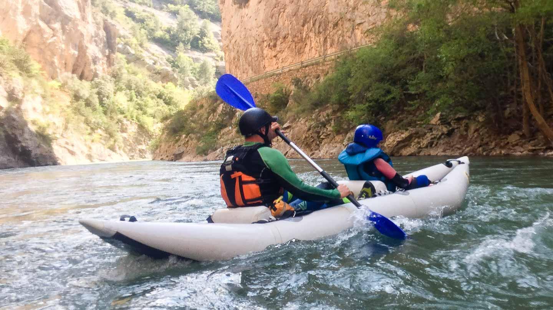Kayaking on the Noguera Pallaresa, Spanish Pyrenees